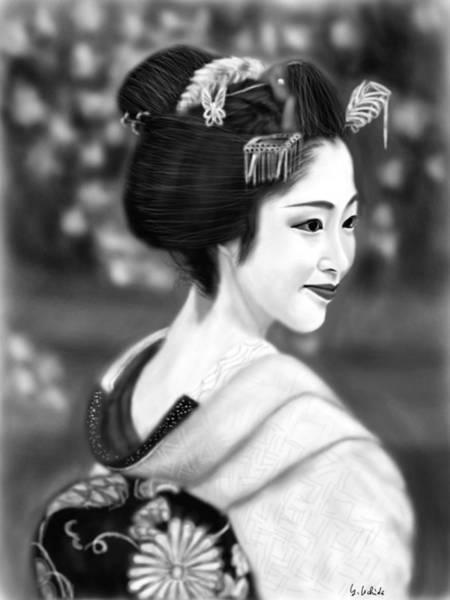 Painting - Geisha No.126 by Yoshiyuki Uchida