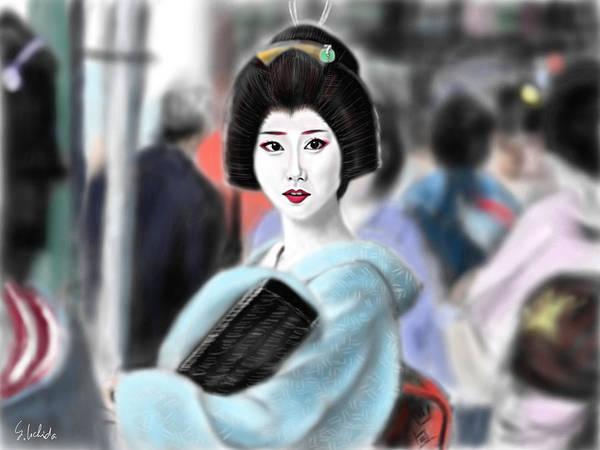 Painting - Geisha No.133 by Yoshiyuki Uchida