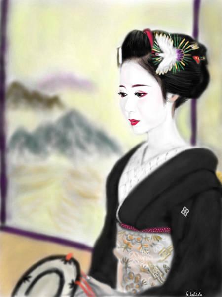 Painting - Geisha No.135 by Yoshiyuki Uchida