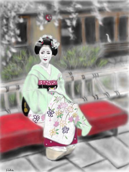 Painting - Geisha No.141 by Yoshiyuki Uchida