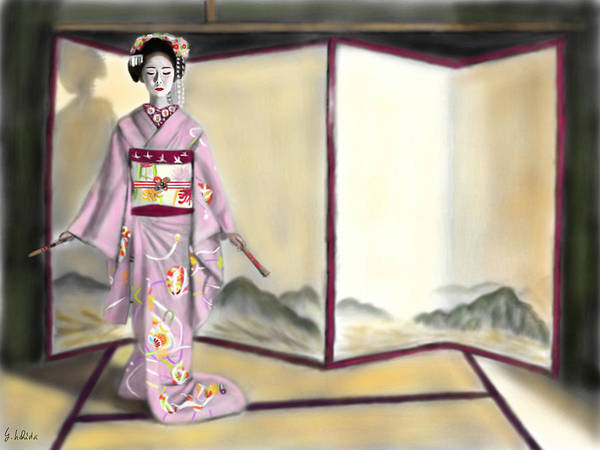 Painting - Geisha No.143 by Yoshiyuki Uchida
