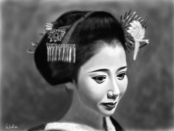 Painting - Geisha No.144 by Yoshiyuki Uchida