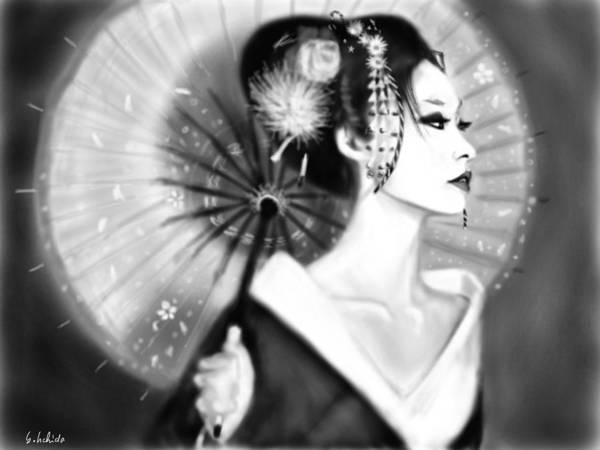 Painting - Geisha No.150 by Yoshiyuki Uchida