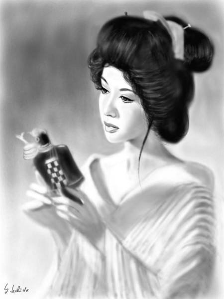 Painting - Geisha No.152 by Yoshiyuki Uchida