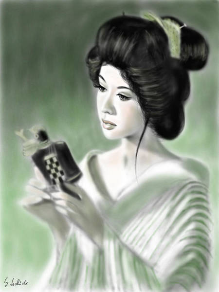 Painting - Geisha No.153 by Yoshiyuki Uchida
