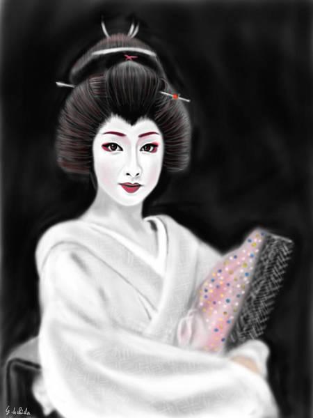 Painting - Geisha No.155 by Yoshiyuki Uchida
