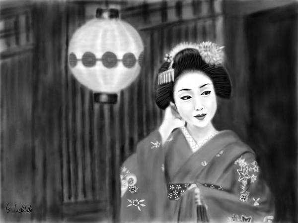 Painting - Geisha No.158 by Yoshiyuki Uchida