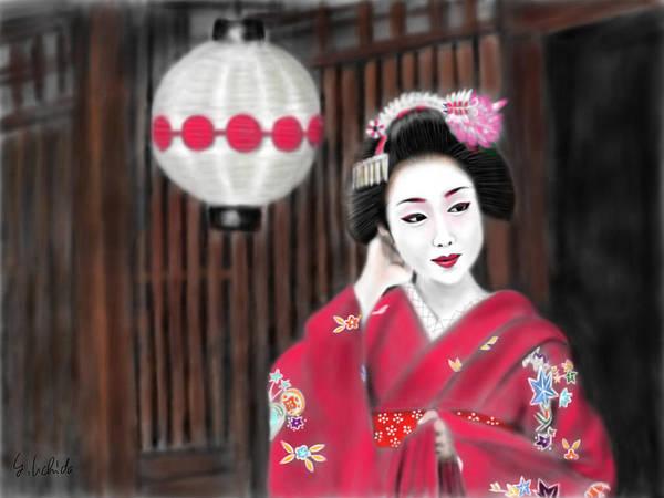 Painting - Geisha No.159 by Yoshiyuki Uchida