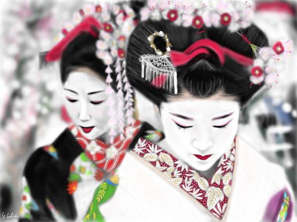 Painting - Geisha No.161 by Yoshiyuki Uchida