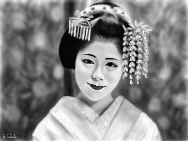 Painting - Geisha No.162 by Yoshiyuki Uchida