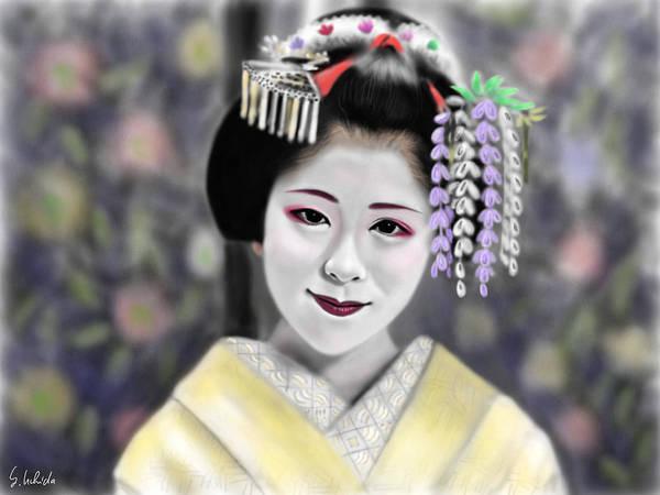 Painting - Geisha No.163 by Yoshiyuki Uchida
