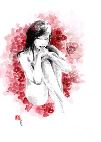 Wall Art - Painting - Sakura - Japanese Woman. by Mariusz Szmerdt