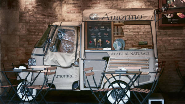 Photograph - Gelato Truck by Joan Carroll