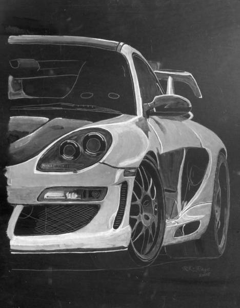 Painting - Gemballa Porsche Left by Richard Le Page