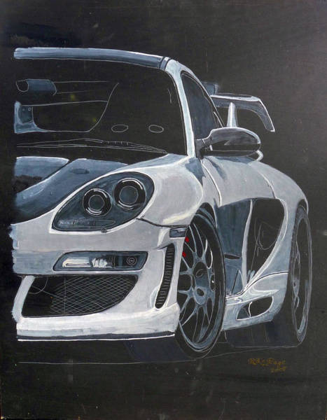 Painting - Gemballa Porsche by Richard Le Page
