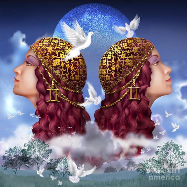 Dove Digital Art - Gemini by MGL Meiklejohn Graphics Licensing