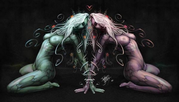 Wall Art - Digital Art - Gemini Heart by David Bollt