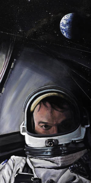 Skeptic Wall Art - Painting - Gemini X- Michael Collins by Simon Kregar