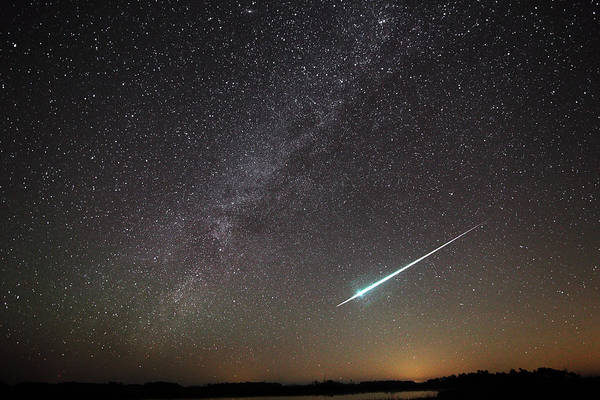 Photograph - Geminid Meteor In Florida by Jean Clark
