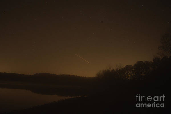 Lake Juliette Photograph - Geminid Meteor Shower by Donna Brown