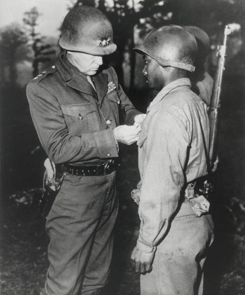 Wall Art - Photograph - Gen. George Patton, Pins The Silver by Everett