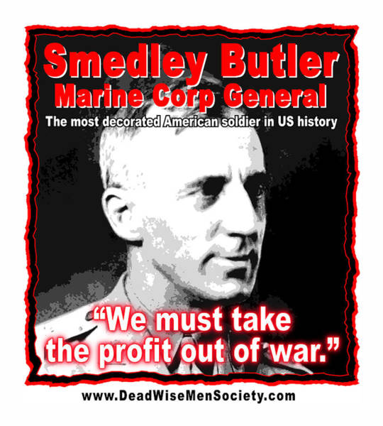 Digital Art - Gen. Smedley Butler On War Profit by K Scott Teeters