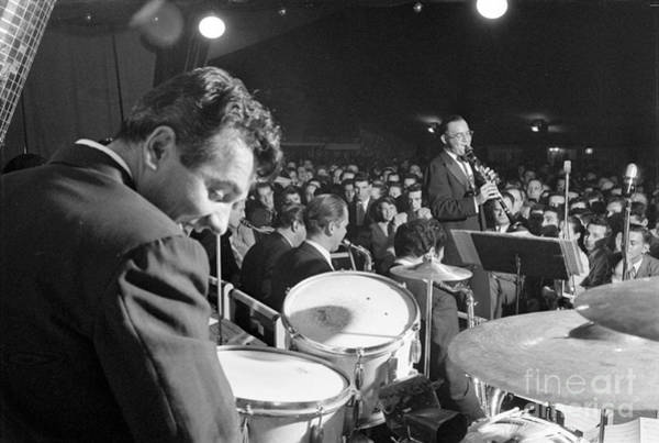 Gene Photograph - Gene Krupa And Benny Goodman Performing by The Harrington Collection