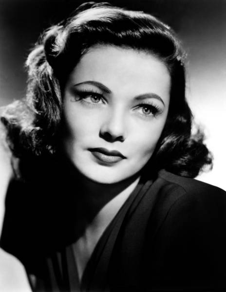 Film Star Photograph - Gene Tierney by Mountain Dreams