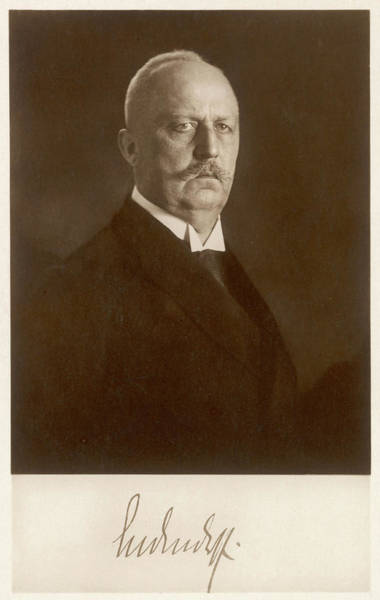 Wall Art - Photograph - General E F W Von Ludendorff  German by Mary Evans Picture Library