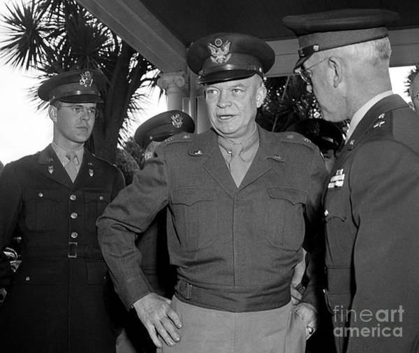 Photograph - General  Eisenhower 1946 by Martin Konopacki Restoration