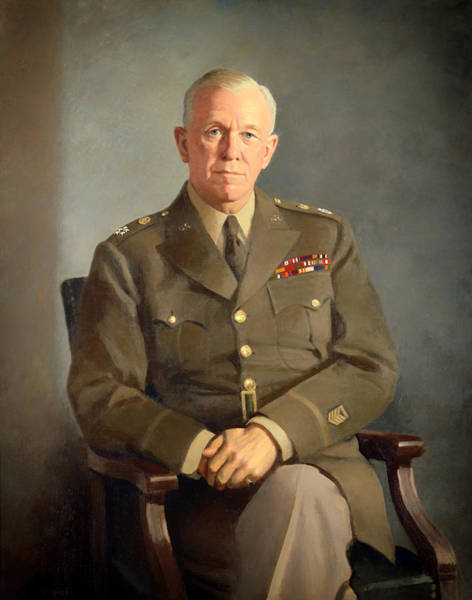 Artistry Painting - General George C Marshall by Mountain Dreams