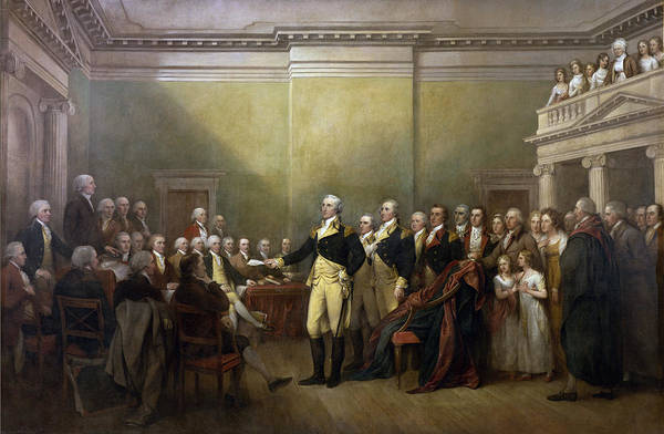 Old Masters Digital Art - General George Washington Resigning His Commission by John Trumbull