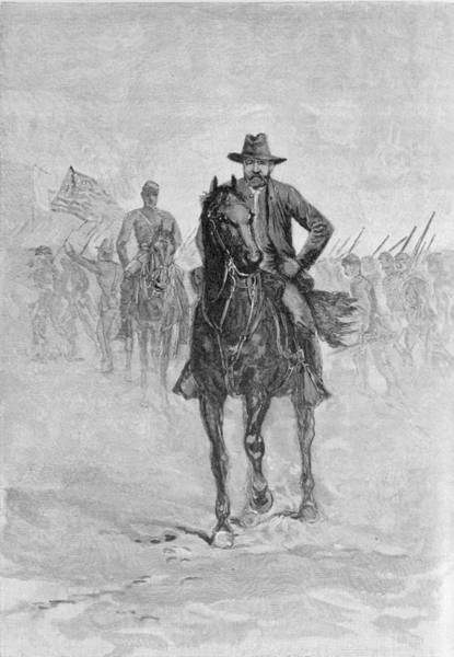 Union Soldier Photograph - General Grant Reconnoitering The Confederate Position At Spotsylvania Court House, Engraved By C.h by American School