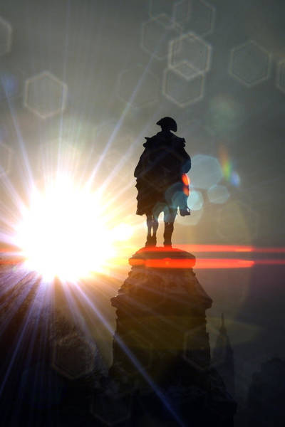 Photograph - General In Sunrise Flares by Alice Gipson
