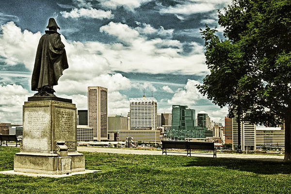 Photograph - General Smith Overlooks Baltimore Harbor by Bill Swartwout Photography