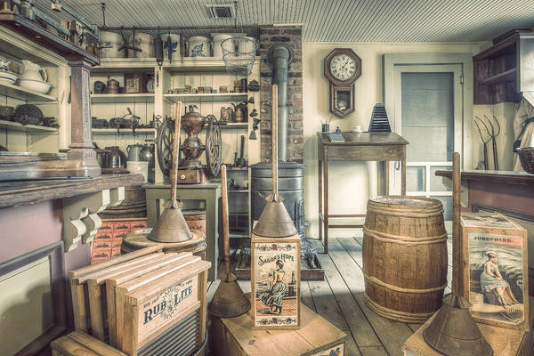 Photograph - General Store - 19th Century Seaport Village by Gary Heller