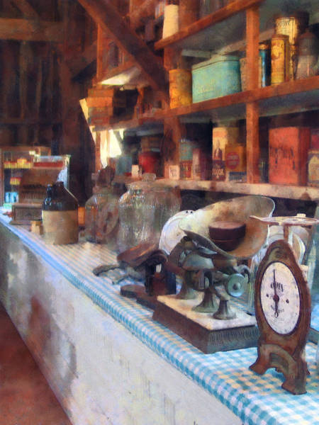 Photograph - General Store With Scales by Susan Savad