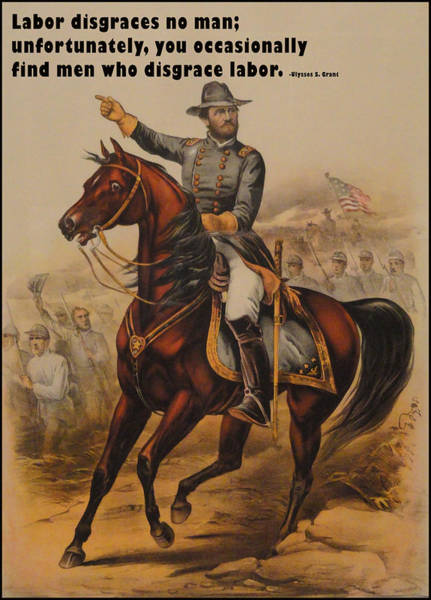 Digital Art - General Ulysses S. Grant by Currier and Ives