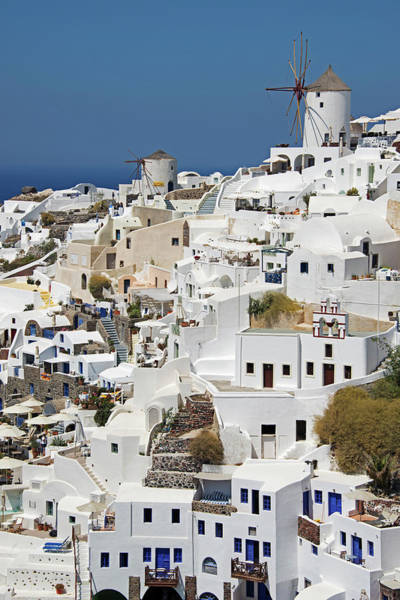 General View Of Oia, Santorini Art Print
