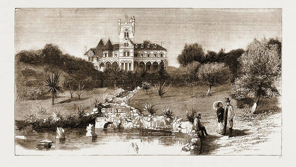 Chateau Drawing - General View Of The Chateau Scott by Litz Collection