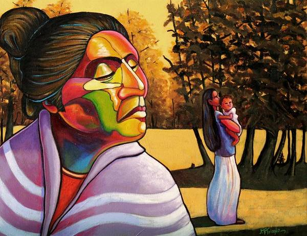 Long Shadow Painting - Generations by Joe  Triano