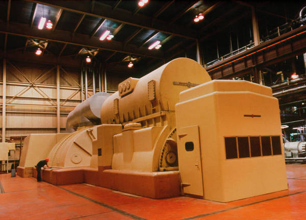 Generators Photograph - Generator Of Coal-fired Power Station by Us Department Of Energy / Science Photo Library