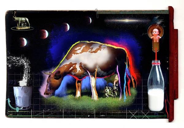 Milk Farm Photograph - Genetic Engineering In Farming by Andrzej Dudzinski/science Photo Library