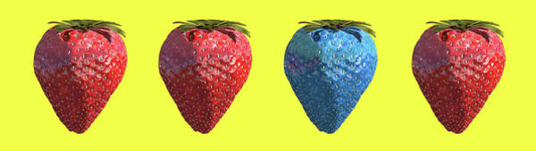 Modified Photograph - Genetically Engineered Strawberries by Christian Darkin