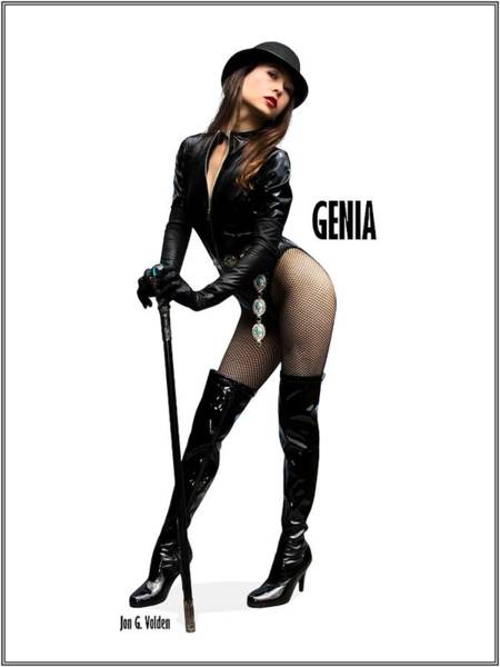 Photograph - Genia Vgirl Pinup by Jon Volden
