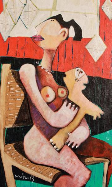Wall Art - Painting - Genitrix No. 6 by Mark M  Mellon