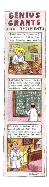 Cliche Drawing - Genius Grants And Recipients by Roz Chast