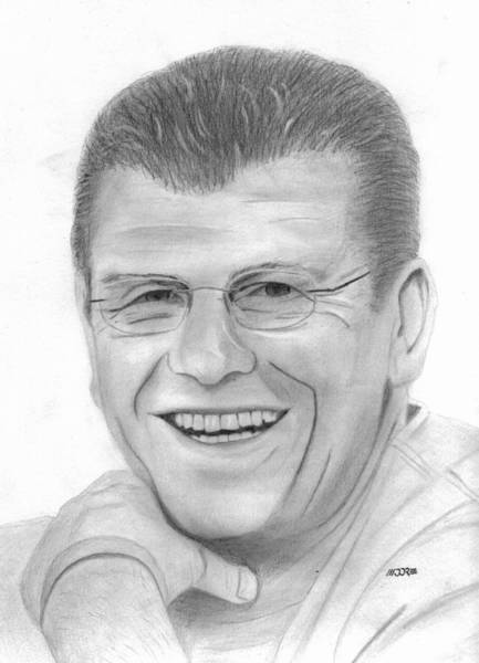 Drawing - Geno Auriemma by Pat Moore