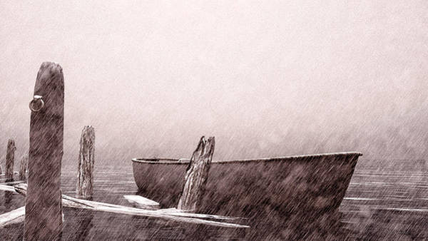 Drawing - Gentle Current by Bob Orsillo