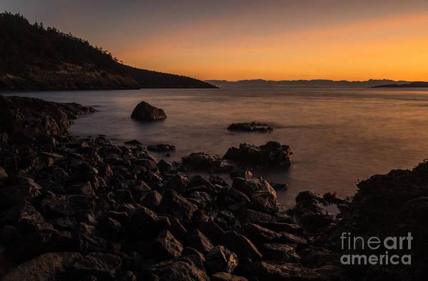 Wall Art - Photograph - Gentle Evening San Juans Sunset Beach by Mike Reid